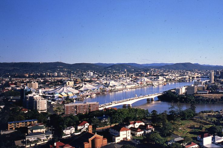 What Expo 88 looked like from Kangaroo Point.