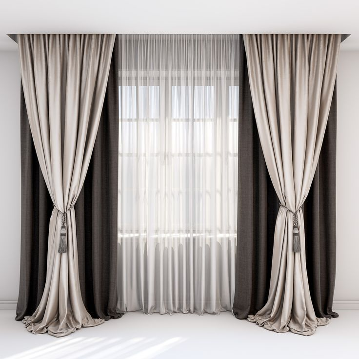 Rown And Beige Curtains Roman Blind And Window Curtains Beige