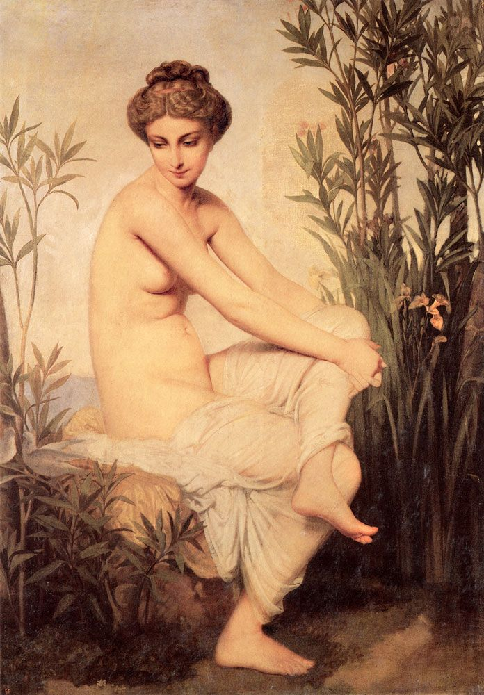 Ancient Bather, Rouen, Musée des BeauxArts. Buy this painting as premium quality canvas art print from Modarty Art Gallery. #art, #canvas, #design, #painting, #print, #poster, #decoration
