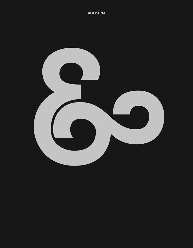 the ampersand of the YWFT Agostina typeface by YouWorkForThem
