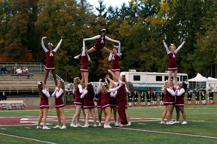 Alma College Competitive Cheer, our newest varsity sport on campus, has been working very hard as they prepare for nationals.