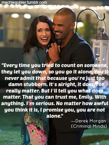 (1) Tumblr Criminal Minds. Morgan and Prentiss. I absolutely adore this