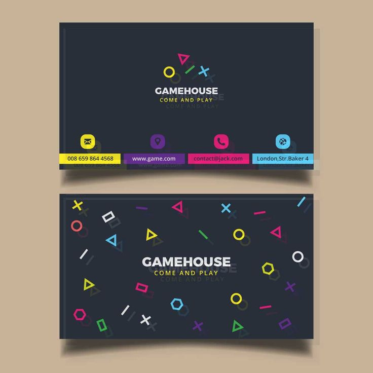 The 11 best business card images on pinterest print templates business card for a video game business free reheart Choice Image