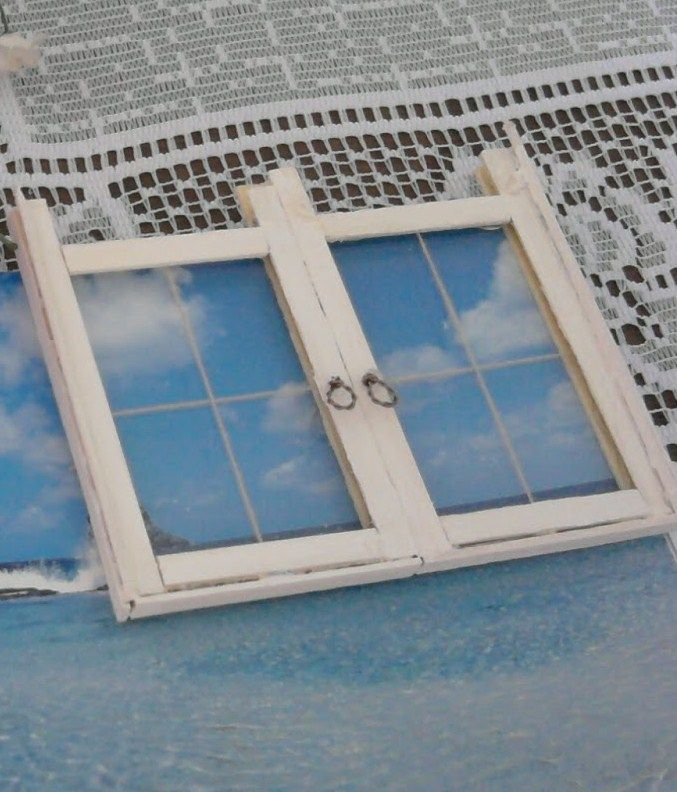 Dollhouse windows - tutorial how to make - miniature faux window (illustration background)