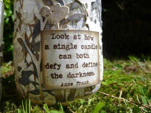 Alison Bomber altered jars at A Vintage Journey