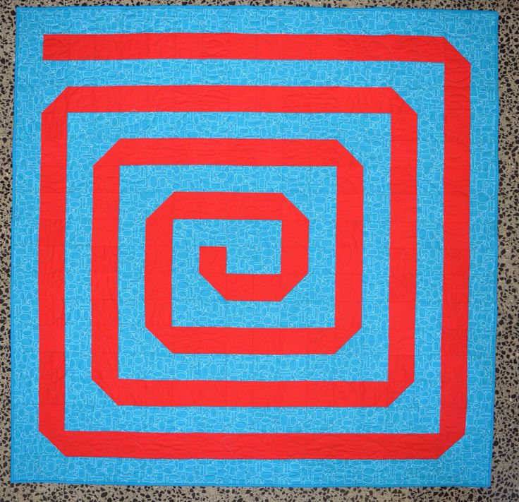 Cool Spiral pre cut quilt kit