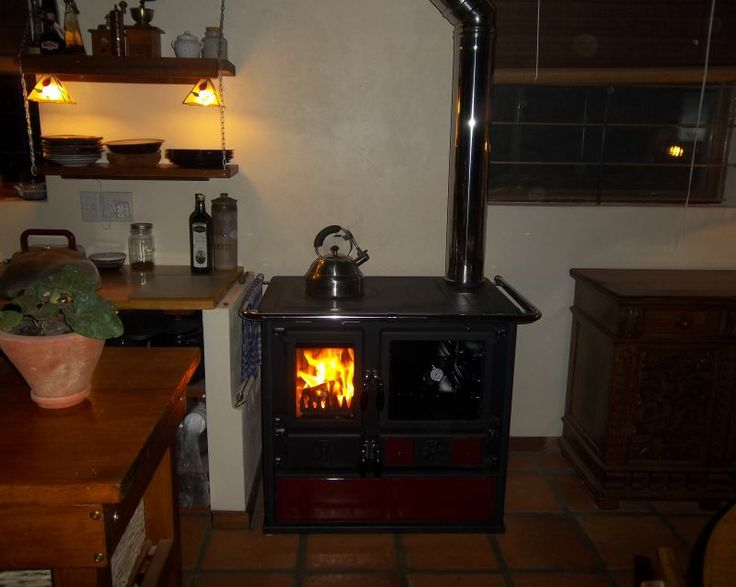 Wood burning stove for all our cooking and heating requirements in winter