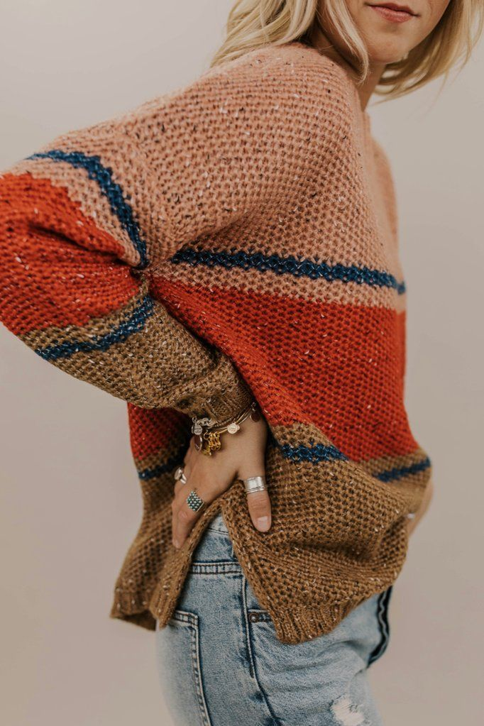 Peach and Red Stripe Sweater Ideas  c3bf6a7a4