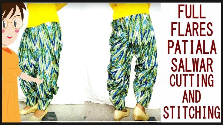 Patiala Salwars Cutting And Stitching | How To Make Patiala Salwar | DIY - Tailoring WIth Usha