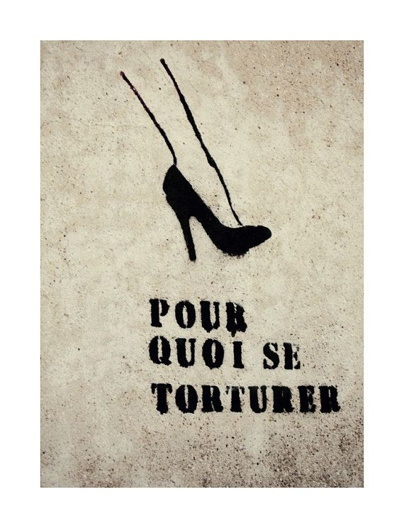 French Quote Graffiti Art in Paris  8x10  Pumps by gypsyfables