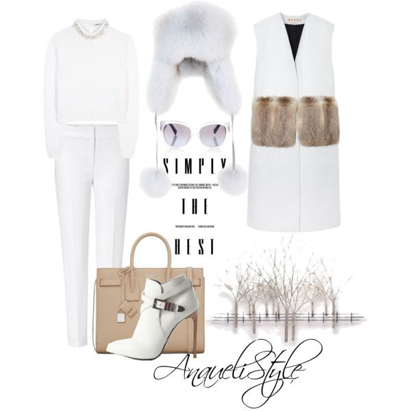 Uptown Girl by anaueli on Polyvore featuring polyvore, fashion, style, Miu Miu, Marni, ESCADA, Yves Saint Laurent, MaxMara, Annabelle New York and Home Decorators Collection