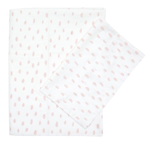 Bedding Set - Smudge Dot | 100% Cotton Percale | Available: Standard Cot Size Duvet cover (incl pillowcase) | Single Bed Duvet cover (incl pillowcase) | Fitted Sheet 130 x 64 x 10 cm | Baby Duvet Size: 80 x 120 cm | Pillow Size: 30 x 40 cm | Colour: Blush / Black http://littlelovekids.com/product/bedding-set-smudge-dot-black/