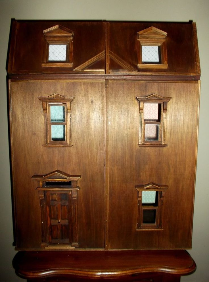 Wood Dollshouse Artist handmade, Manwaring s. XIX Style, Scale 1:12 #EdwardianGeorgianVictorian