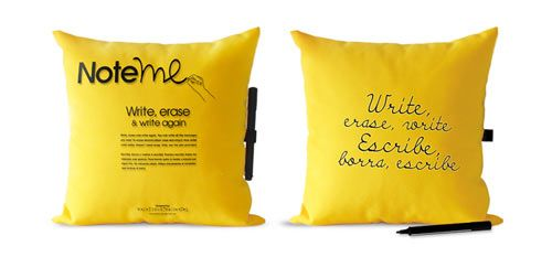 Note Me Pillow- Write a note, erase it, and write another!