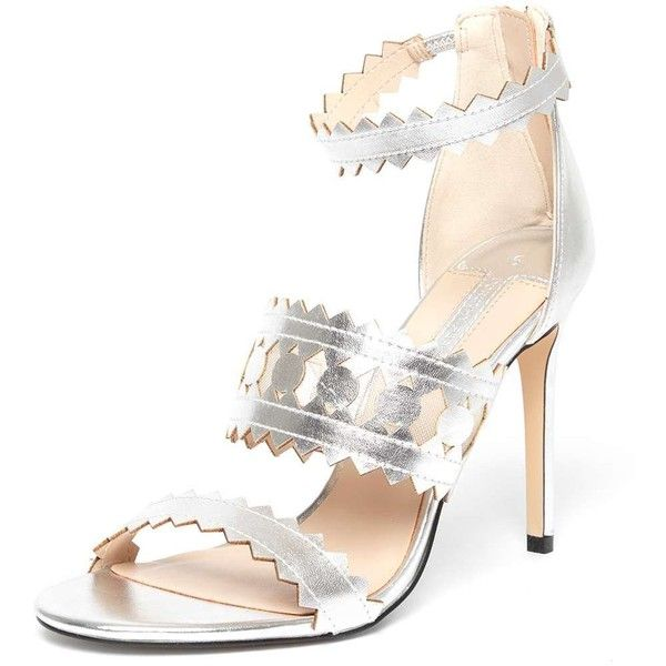 Dorothy Perkins Online Exclusive Silver 'Sophia' Sandals (78 AUD) ❤ liked on Polyvore featuring shoes, sandals, silver, silver high heel sandals, dorothy perkins shoes, silver sandals, silver high heel shoes and high heel sandals