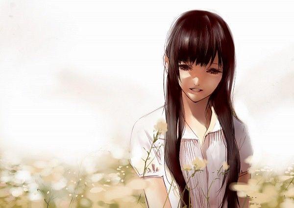 Znalezione obrazy dla zapytania obrazy dziewczyny mangi z długimi czarnymi włosami związanymi w kucyk