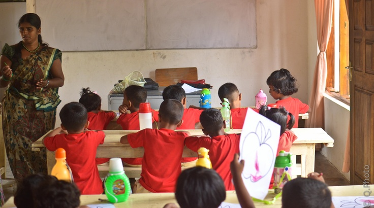 Kindergarten class at CEI Tangalle school