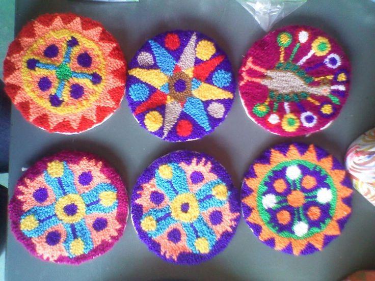 tapices pequeños wayuu original echos por wayuu de lana