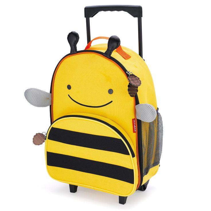 SKIP HOP Reisetrolley Zoo Luggage Bee - Gut gerüstet für die Reise oder eine Wochenend-Übernachtung!