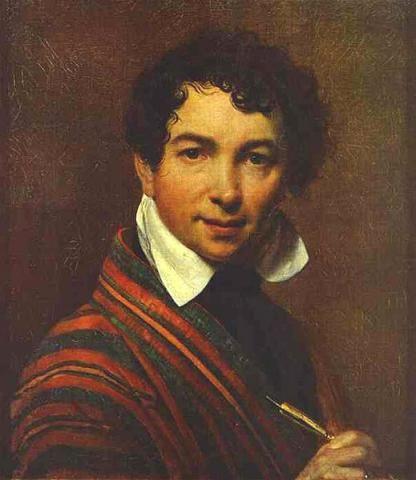 О.Кипренский Автопортрет 1828 г.  Третьяковка