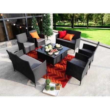 Alcott Hill Lazenby 8 Piece Sofa Set with Cushions