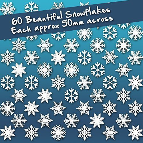 Christmas Snowflake Stickers Window Cling Decorations 60 Individual Snowflake