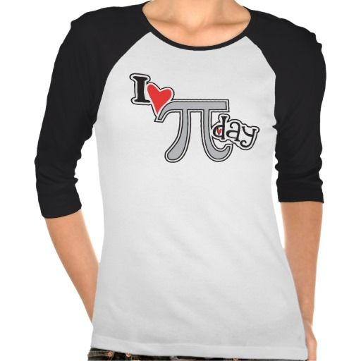 I heart Pi Day - Pi Apparel Gift T Shirt