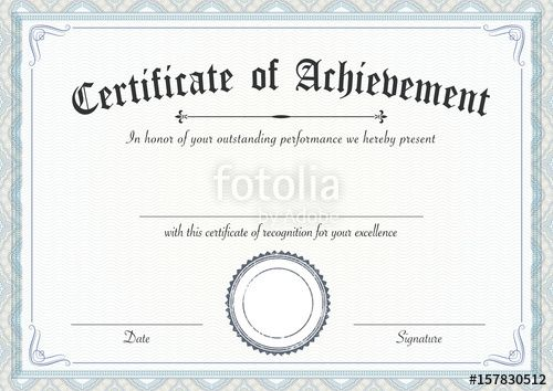 The 25+ best Certificate of achievement template ideas on - blank stock certificate template