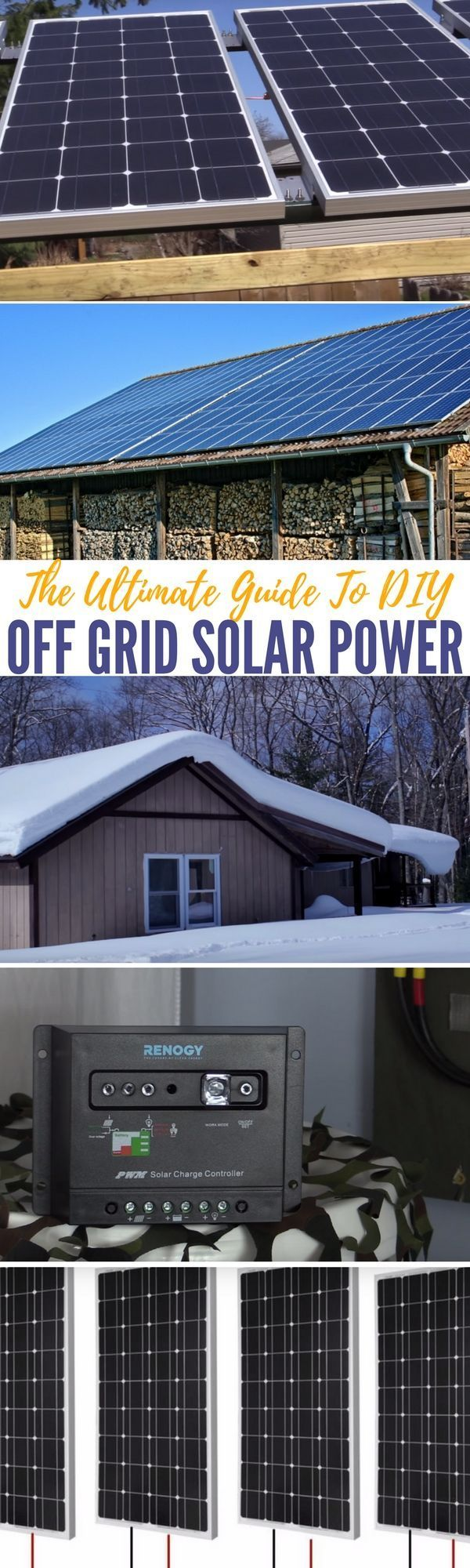 The Ultimate Guide To DIY Off Grid Solar Power — You won't need any other information on solar ever again with this information. Bookmark for later use if you are not ready for solar power yet!
