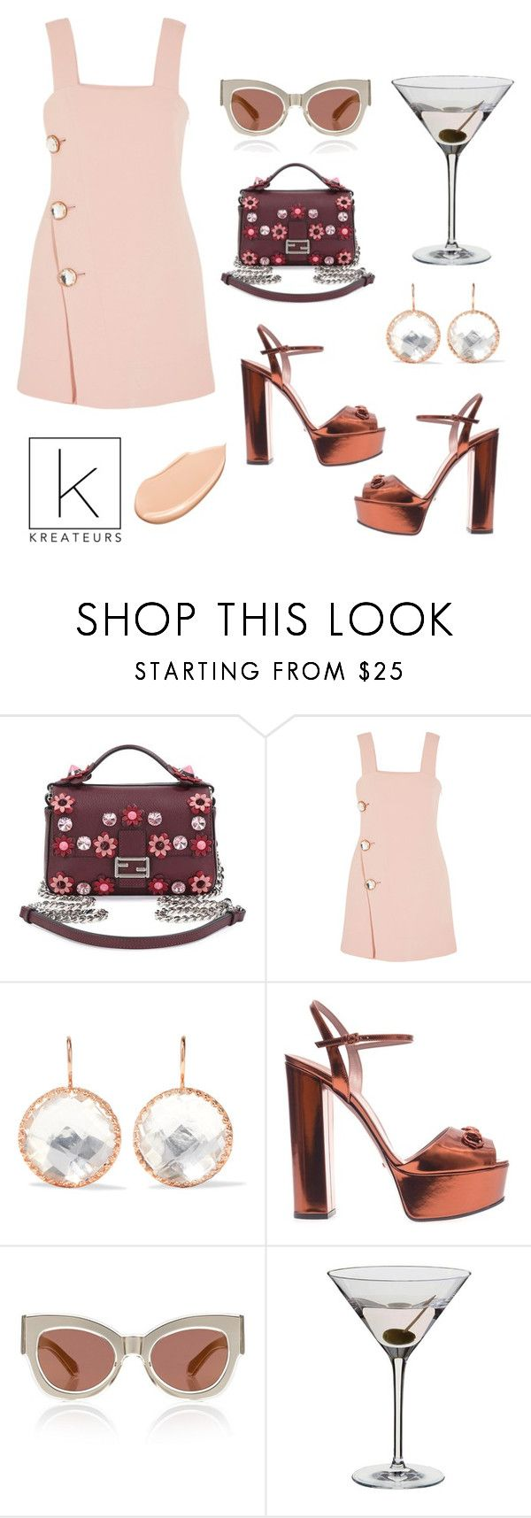 """Pink"" by emmaomeradzic ❤ liked on Polyvore featuring Fendi, Marni, Larkspur & Hawk, Gucci, Karen Walker, Dartington Crystal and Shiseido"
