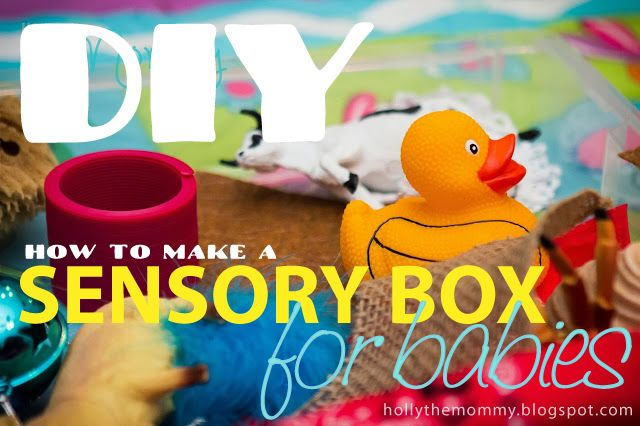 HOW TO make a sensory box for your baby - 6+ months!