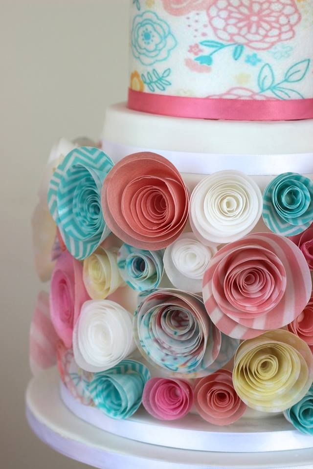 50 best cakes images on pinterest rice paper wafer paper flowers wafer paper flowers mightylinksfo