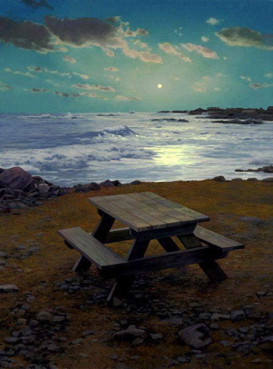 Scott Prior, Picnic Table in Moonlight