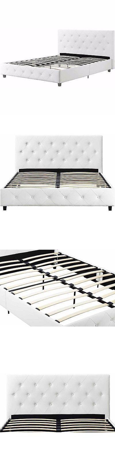 beds and bed frames 175758 bed frame queen size platform upholstered bedroom furniture tufted headboard - Tufted Bed Frame Queen