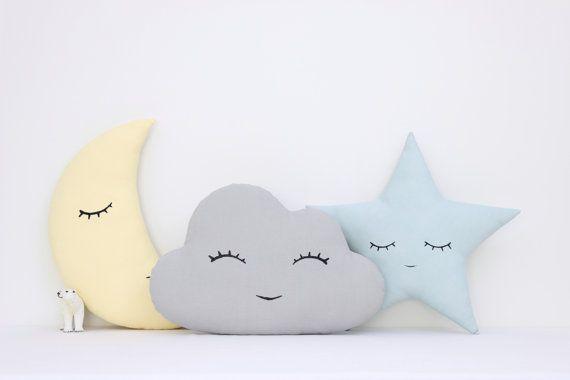 Ensemble de nuages la lune et étoiles oreillers par ProstoConcept