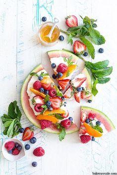 Pinterest cuisine : pizza pastèque