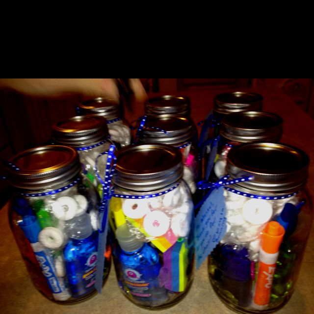 Teacher gifts we made!!! I want one of my students to make me one!