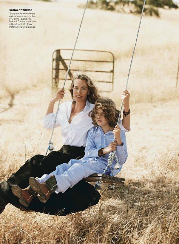 Tatjana Patitz by Peter Lindbergh. «The Great Escape». Vogue US aug. 2012