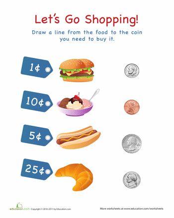 Kindergarten Money Worksheets & Free Printables | Education.com