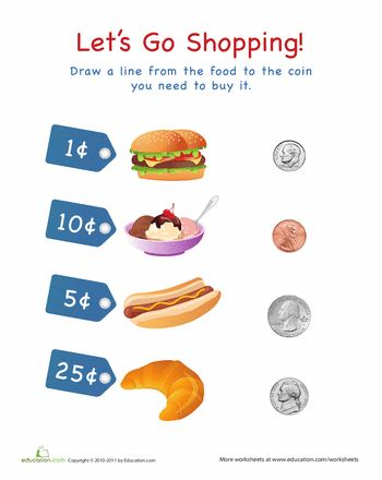 Pre School Worksheets : counting money store worksheet Counting ...
