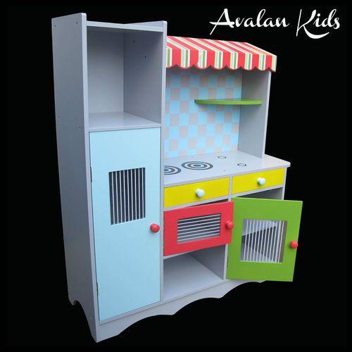 Bright Pastel Pretend Play Kitchen TOY Kitchen Cubby House TOY BOX | eBay $129.50