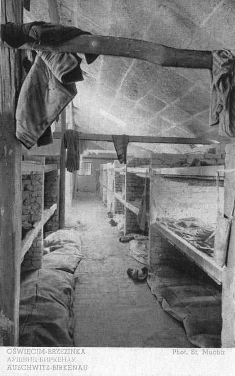 Auschwitz, Poland, A womens' barrack in the concentration camp