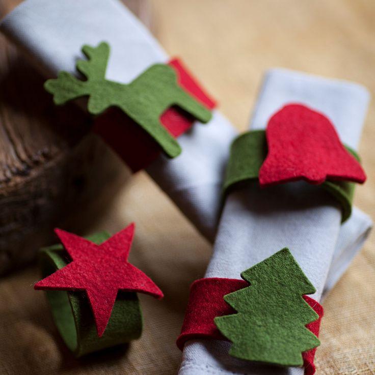 $12 Argollas para decorar la mesa en Navidad