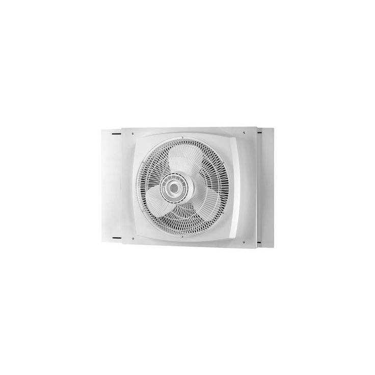 Air King 9155 16 Inch 2470 CFM 3-Speed Window Fan with Storm Guard Housing Fans Air Circulator Window Fan