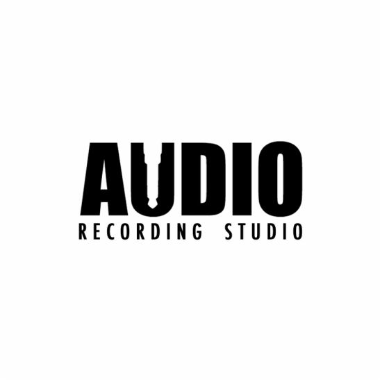 Audio Recording Studio Logo - negative space logo - Danielle Heim Freelance Graphic Design & Illustrator