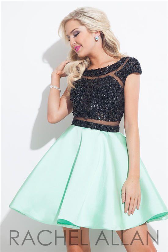 Beaded Rachel Allan 4023 Short Homecoming Dresses 2015