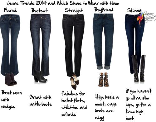 Jeans Trends 2014 and which shoes to pair with each jeans shape http://www.insideoutstyleblog.com/2014/06/jeans-trends.html