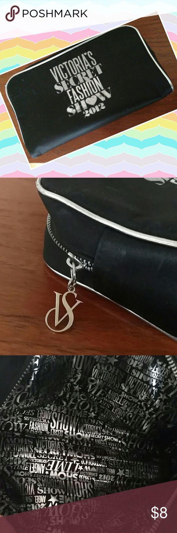 New vic secret large makeup case Never used large makeup bag. Black w silver trim. Vs zipper pull Victoria's Secret Bags Cosmetic Bags & Cases