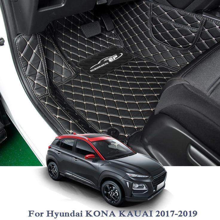 Car Styling Car Floor Mat For Hyundai Kona Kauai Tucson 2015 2018 Lhd Auto Foot Pad Automobile Carpet Cover Internal Access Car Floor Mats Carpet Cover Hyundai