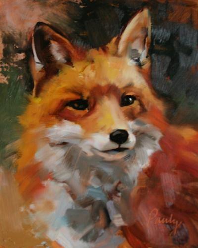 """Red 8x10 oil on Birch board"" - Original Fine Art for Sale - © Bob Pauly"